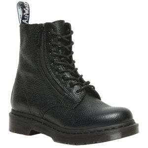 NWT1460 PASCAL WOMEN'S LEATHER ZIPPER LACE UP BOOTS